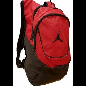 Nike Jordan Jumpman Logo Backpack Red Onyx Print